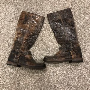 Frye Distressed Boots Size 6 1/2